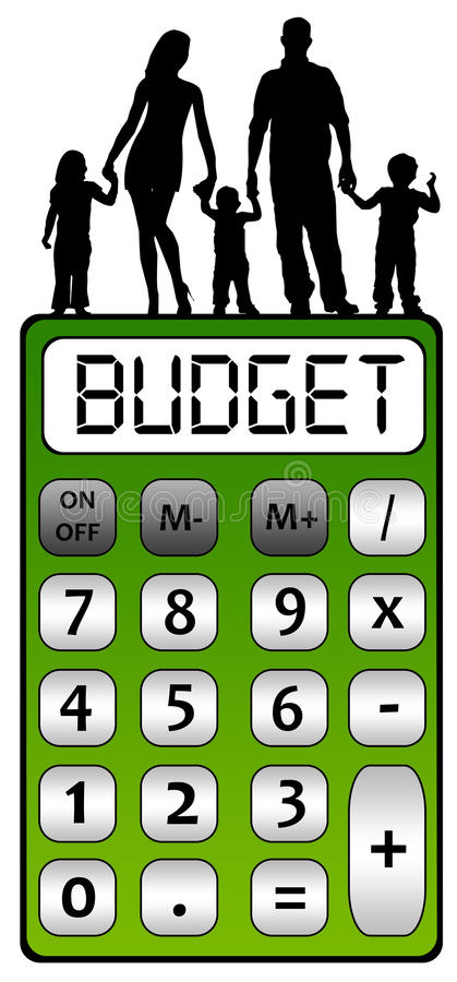 Family budget royalty free illustration