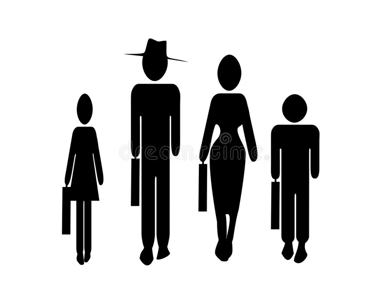Family business vector illustration