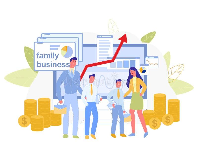 Family Business. Data Analysis Chart, Information, stock illustration