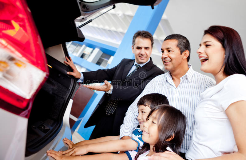 Download Family buying a car stock image. Image of seller, selling - 23746903