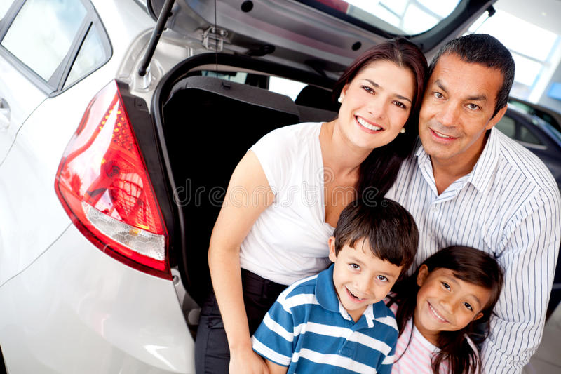 Download Family buying a car stock photo. Image of purchase, person - 23814500