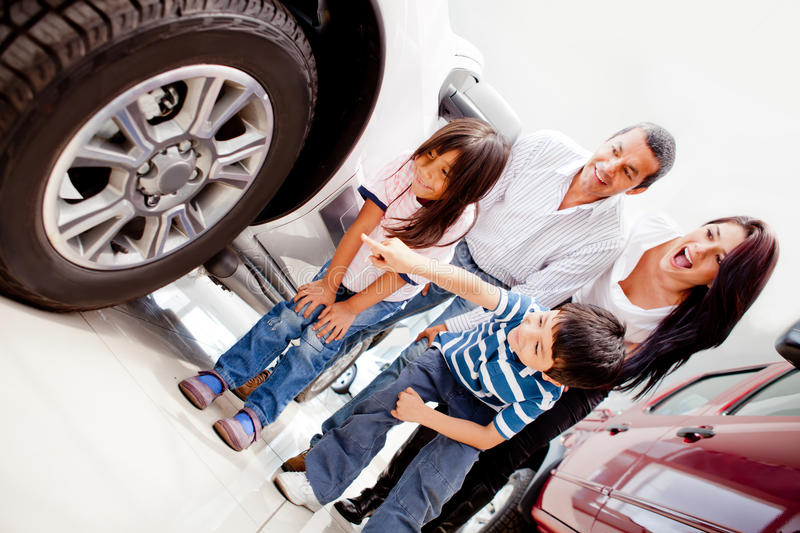 Download Family buying a car stock image. Image of family, dealer - 23941695