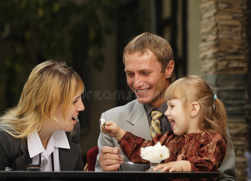 Download Family In Cafe Stock Photos - Image: 10363343