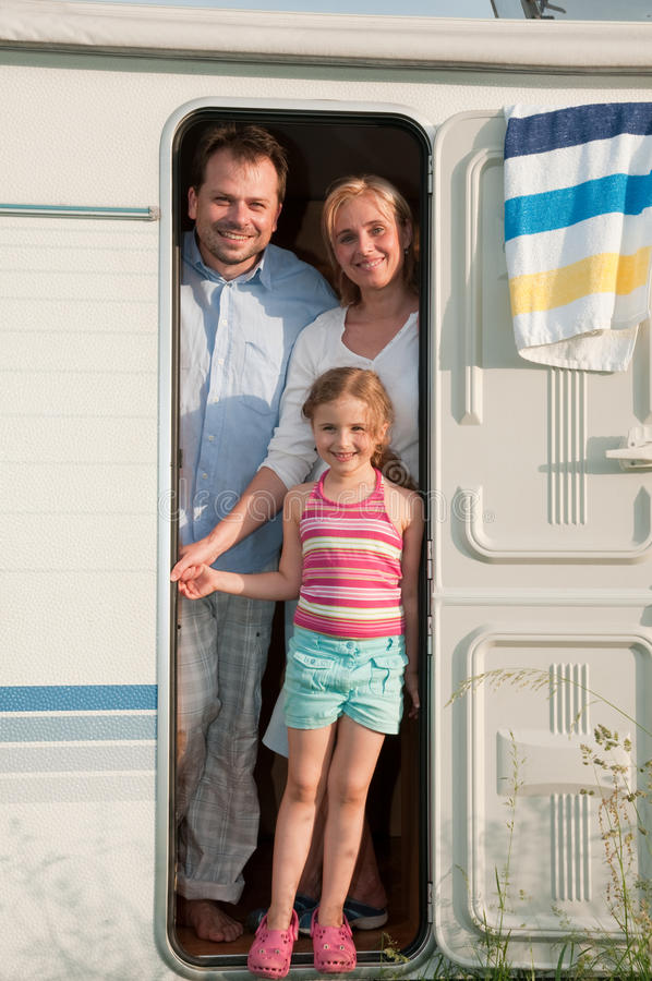 Family camping royalty free stock images