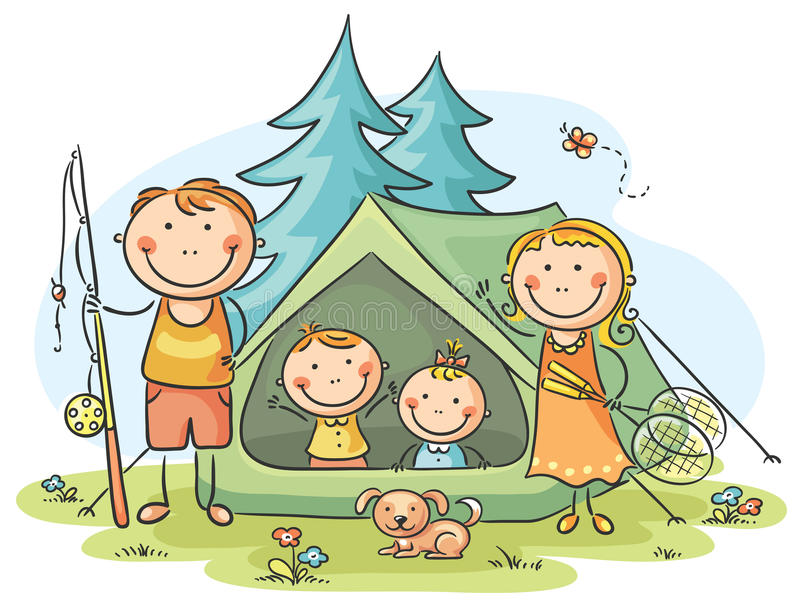 Download Family Camping Stock Vector Illustration Of Character