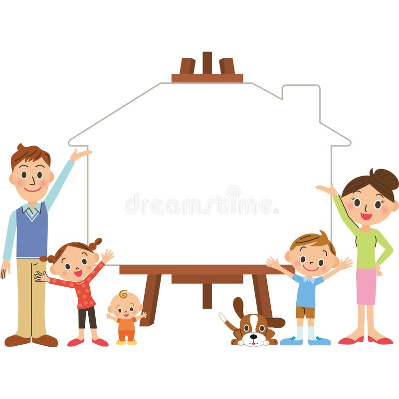 Family campus family. Write a message on family White House silhouette campus stock illustration