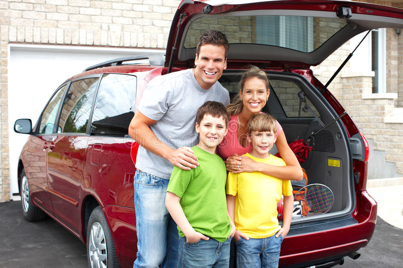 Download Family car stock photo. Image of smiling, outdoor, children - 14523120