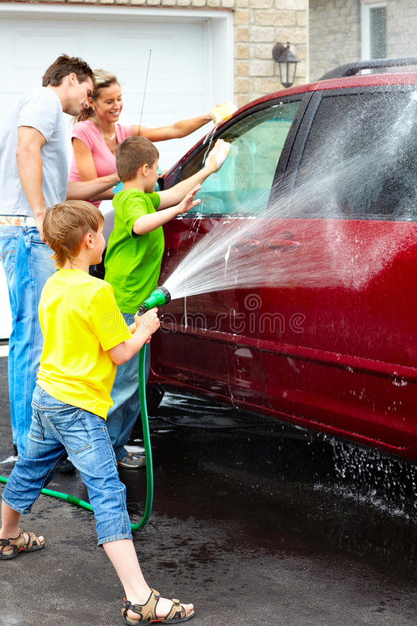Family Car Stock Photography