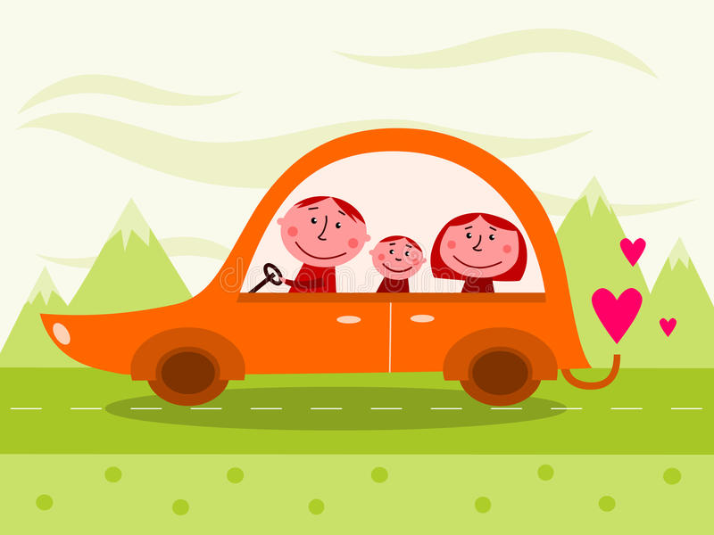 Download Family car stock vector. Illustration of mother, driver - 17292663