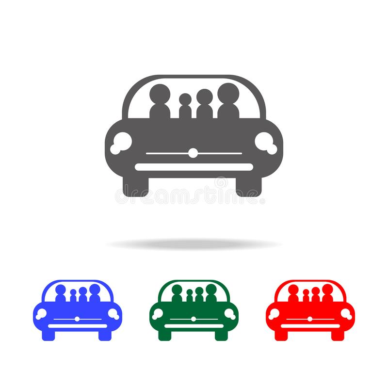 family in car traveling icon. Elements of family multi colored icons. Premium quality graphic design icon vector illustration