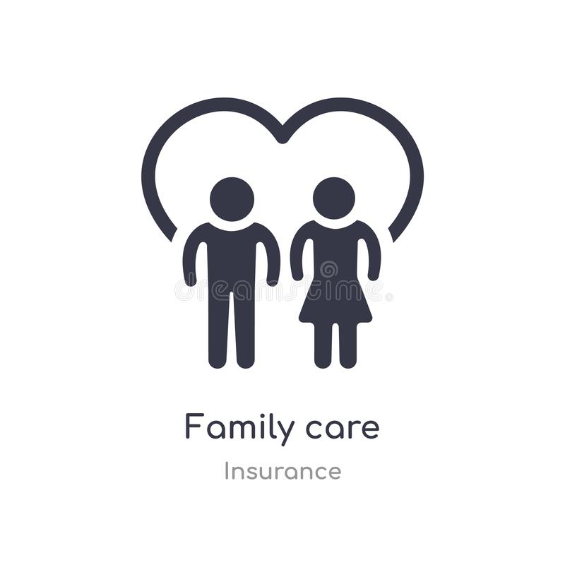 Family care icon. isolated family care icon vector illustration from insurance collection. editable sing symbol can be use for web. Site and mobile app royalty free illustration
