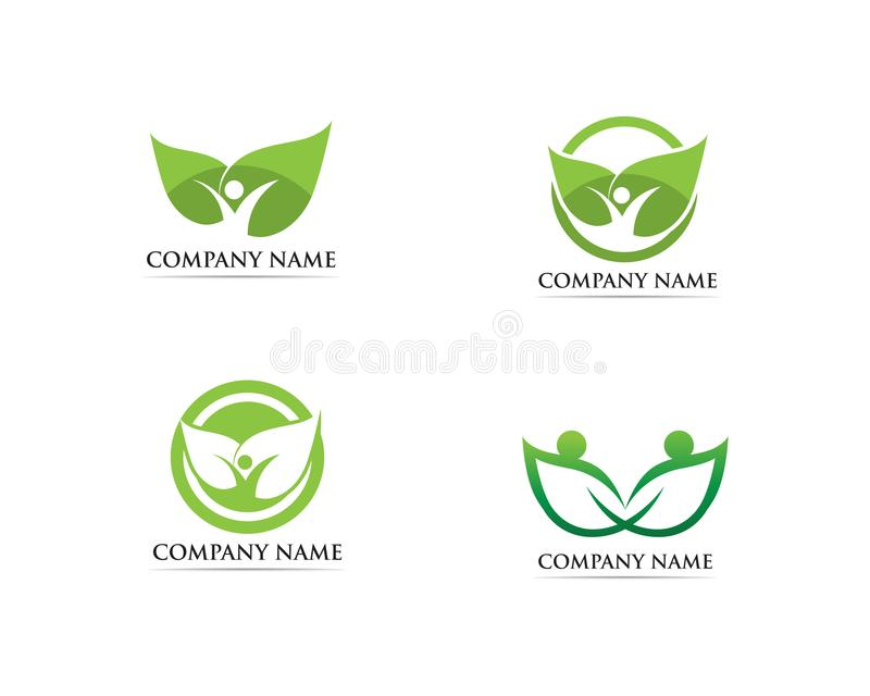 Family care logo and symbol vector illustration