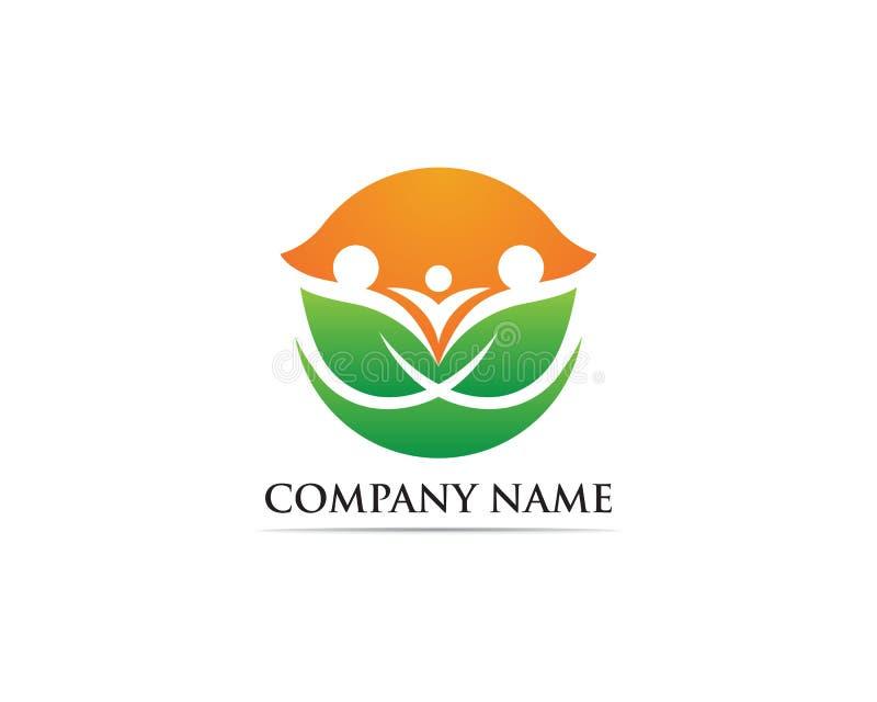 Family care logo and symbol stock illustration