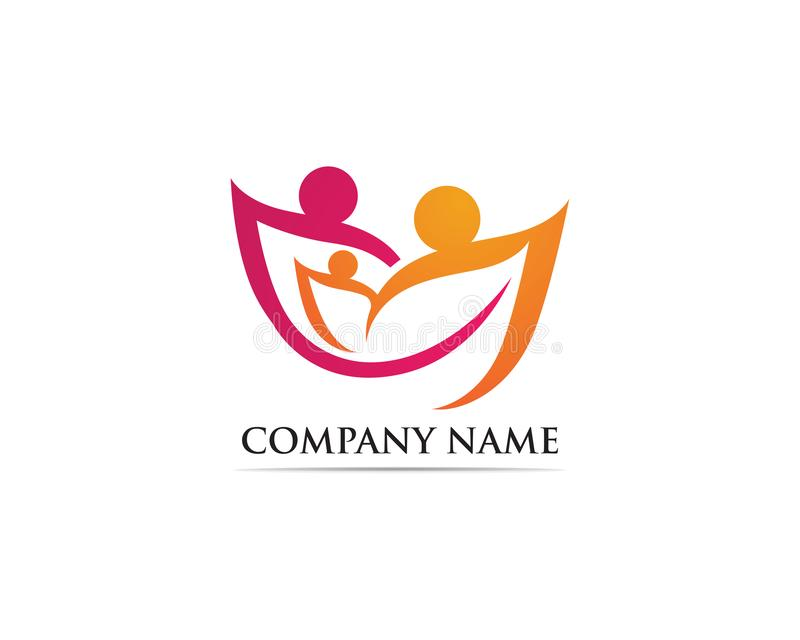 Family care logo and symbol royalty free illustration