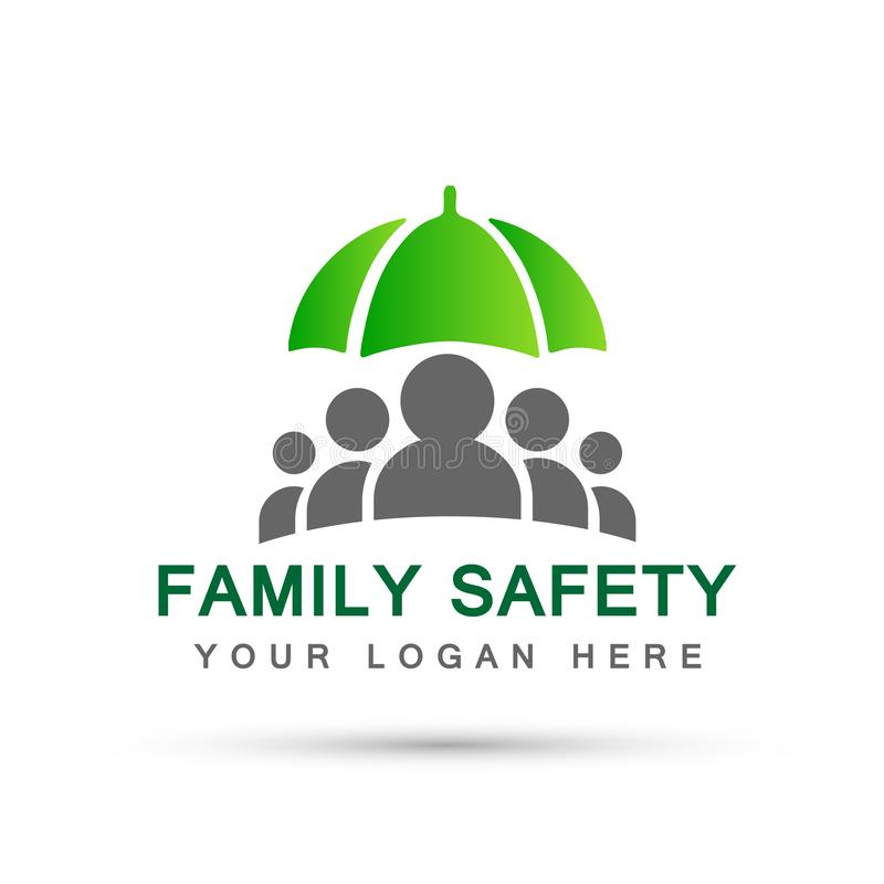 Family care people health care concept symbol icon design vector on white background. Family care people safety health care concept symbol icon design vector on vector illustration
