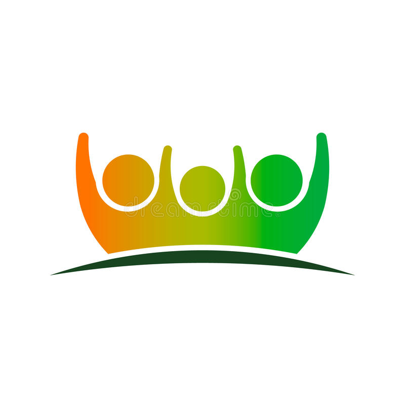 Family Care People Logo. Concept for a Customer Service Care for People royalty free illustration