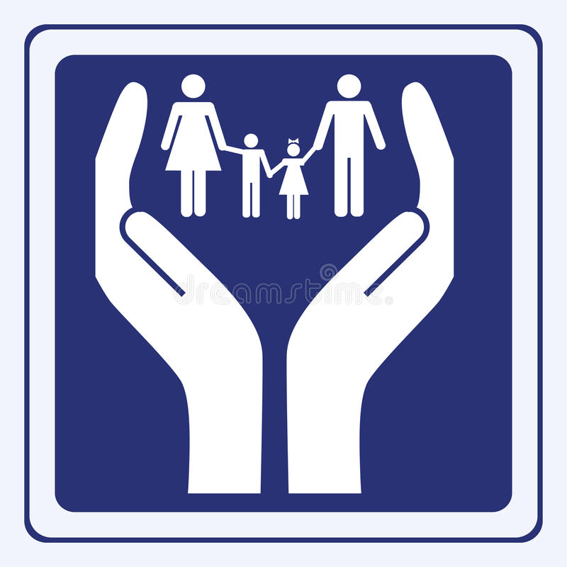 Family care sign vector illustration
