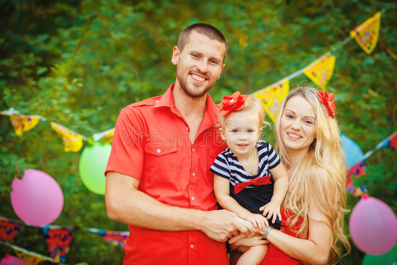 Download Family Celebrating Birthday Party In Green Park Outdoors Stock Photo - Image: 36252416