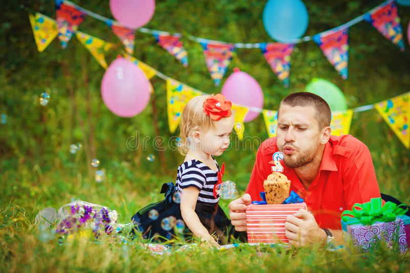 Download Family Celebrating Birthday Party In Green Park Outdoors Royalty Free Stock Images - Image: 36252419