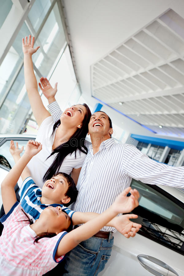 Download Family Celebrating Buying A Car Stock Image - Image: 23845965