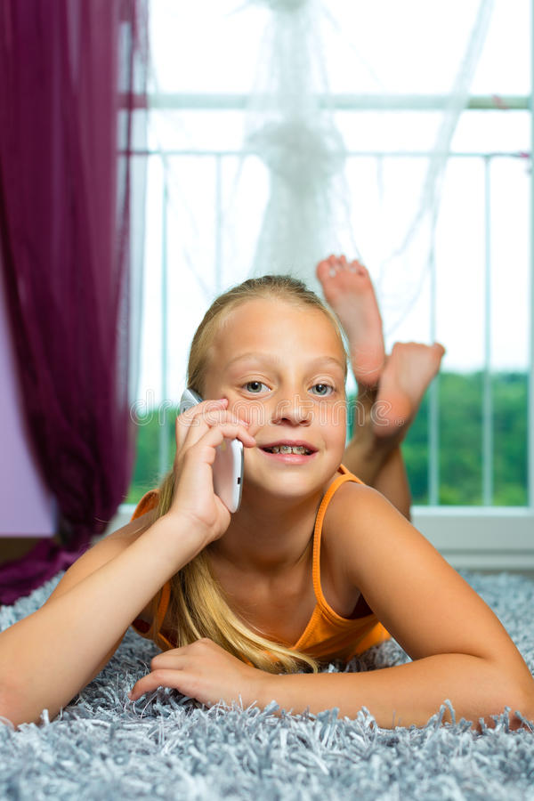 Download Family - Child With Cell Or Smartphone Stock Images - Image: 26869144