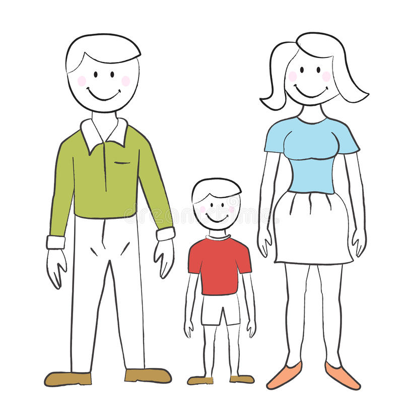 Free Family - Child S Drawing Stock Photography - 23548132