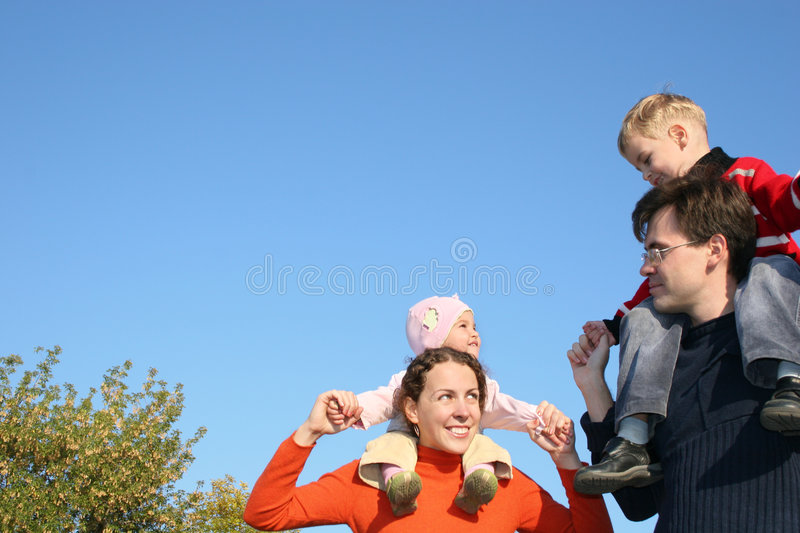 Family with children stock photo