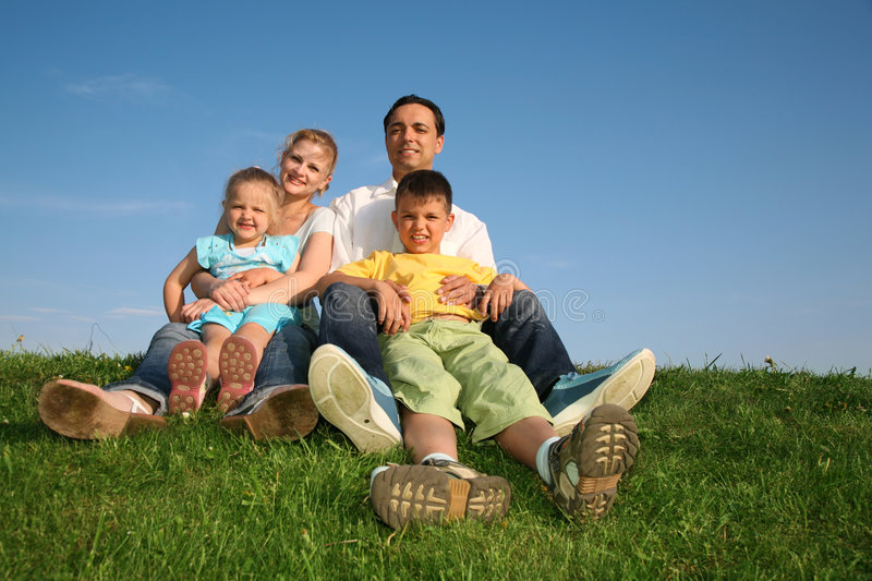 Download Family with children stock image. Image of cheerful, hand - 2555613