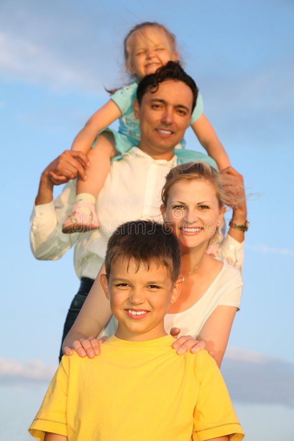 Family with children stock photography