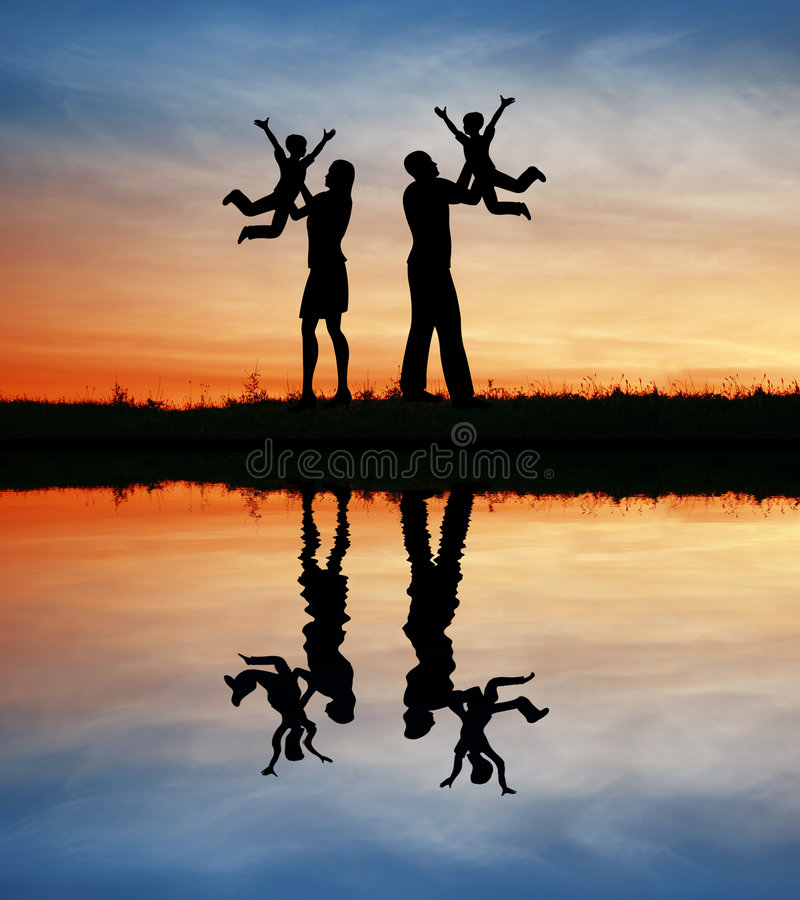 Family With Children On Hands Royalty Free Stock Photos