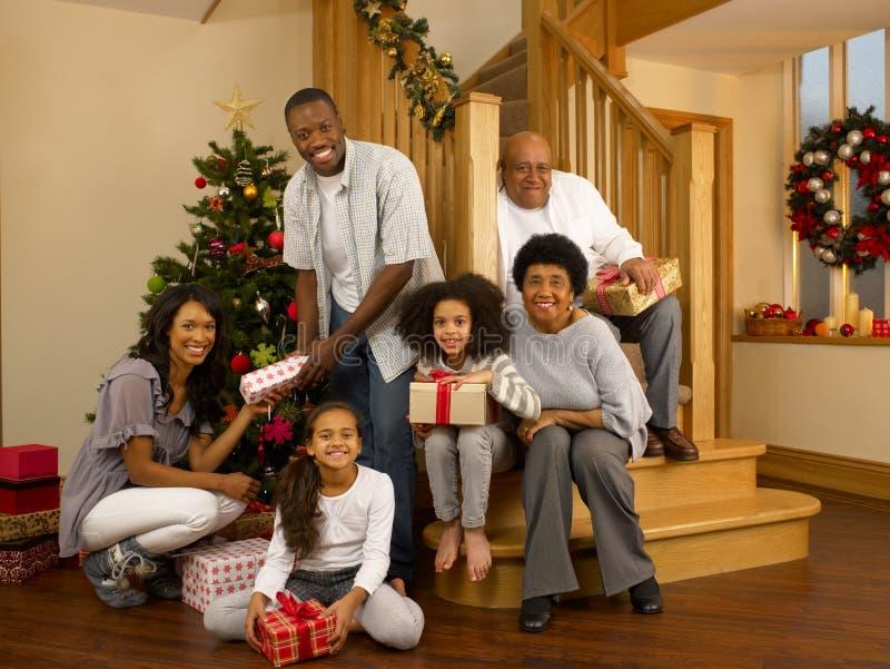 Family Christmas royalty free stock photography