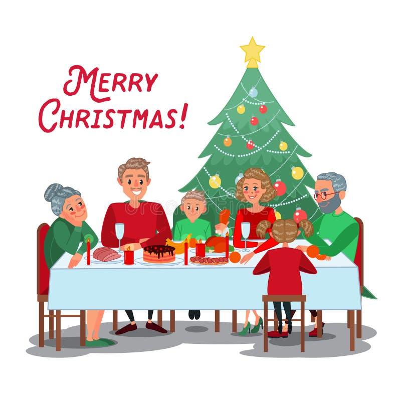 Family Christmas Dinner With Grandparents Happy Celebrating Rh Dreamstime Com Celebration Pictures Clip Art