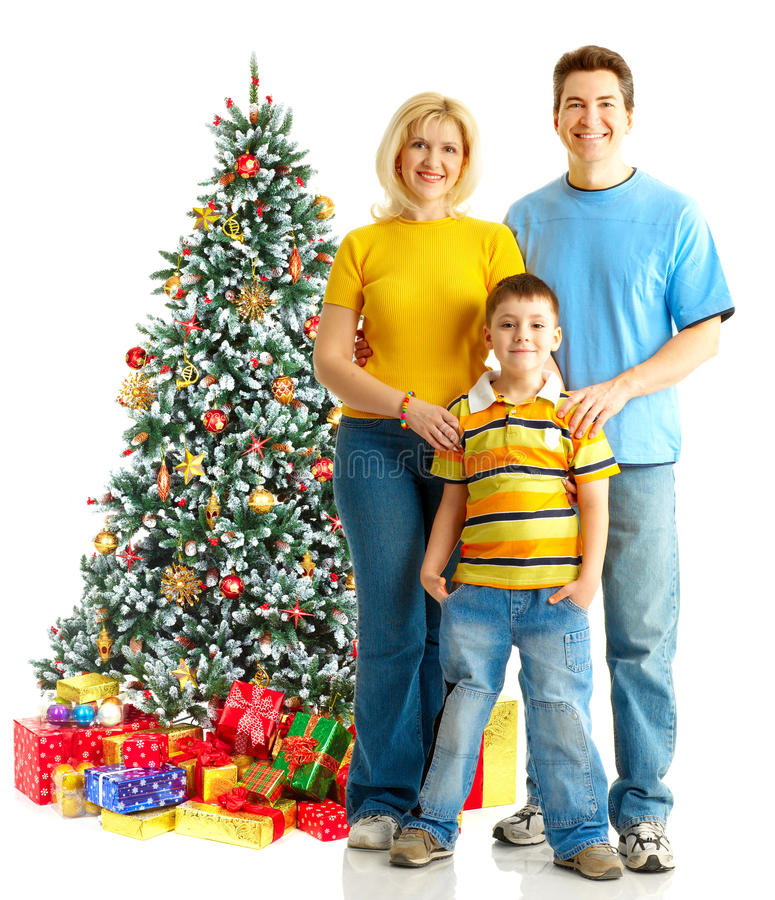 Download Family And A Christmas Tree Stock Photo - Image: 11658428