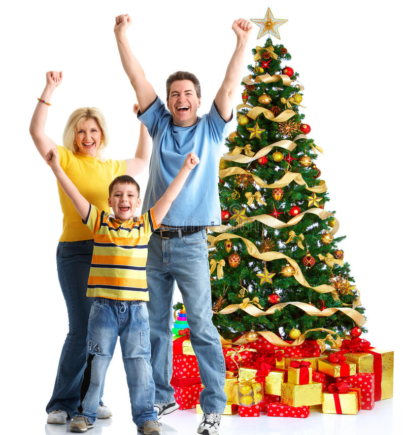 Download Family And A Christmas Tree Stock Photo - Image: 11658438
