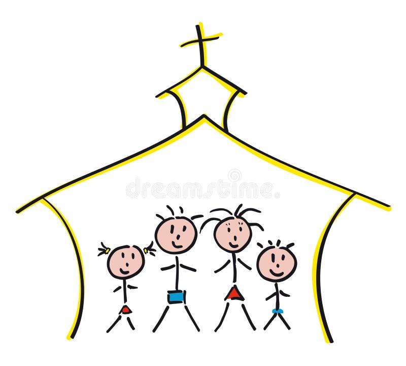 Family Churc stock illustration
