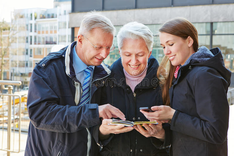 Download Family on city trip stock image. Image of internet, holiday - 31015439