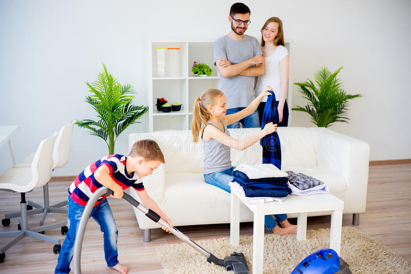 Family cleaning house stock photo image of house child for House cleaning stock photos
