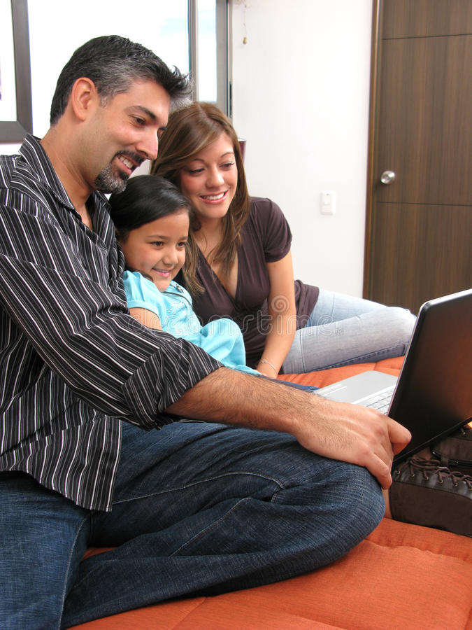 Download Family computer stock image. Image of family, kids, online - 13647675