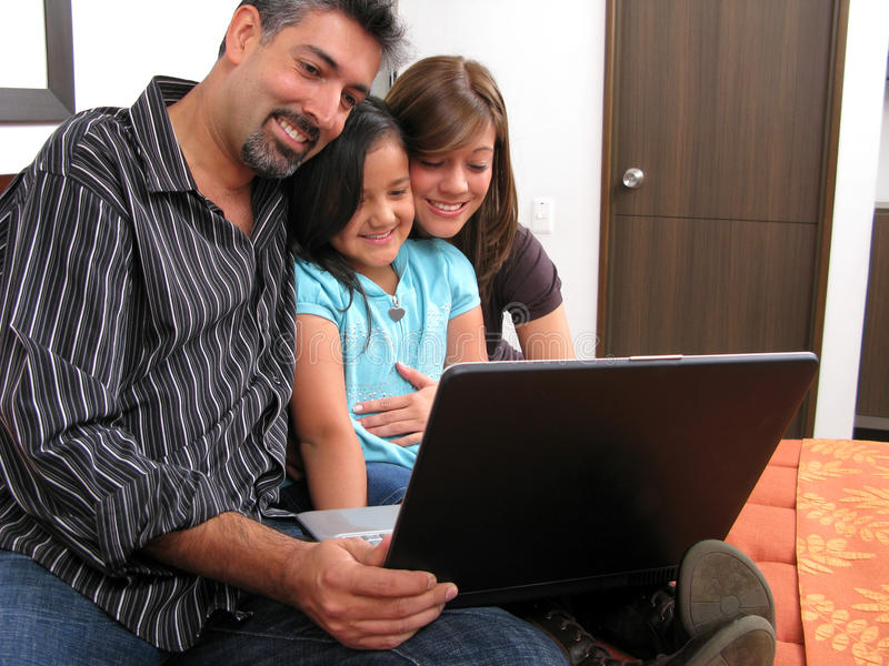 Download Family Computer Royalty Free Stock Image - Image: 14124406