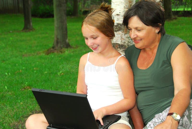 Family computer royalty free stock photo