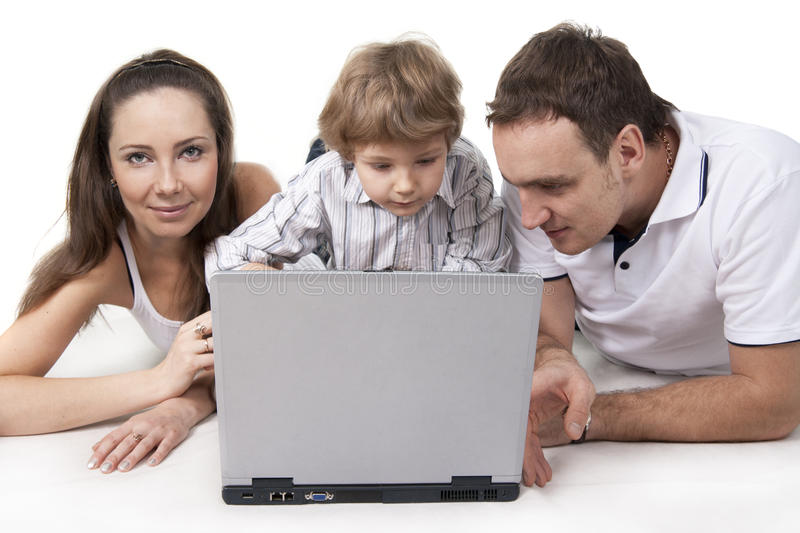 Download Family And Computer Royalty Free Stock Photos - Image: 18559528