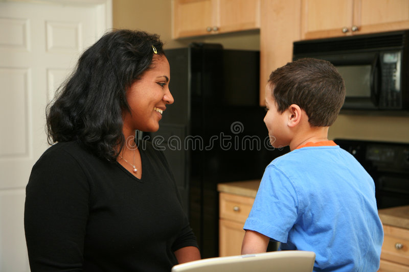 Download Family on Computer stock photo. Image of interracial, hispanic - 4911896