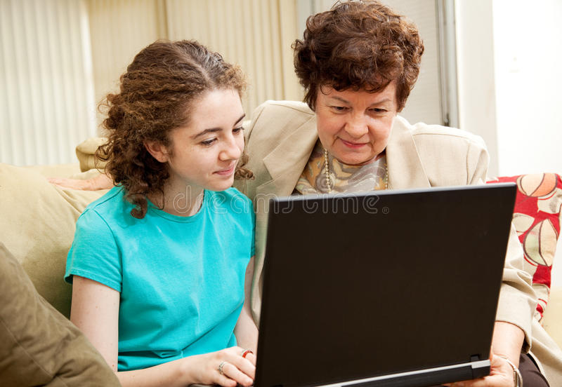 Family Computer Time royalty free stock photo