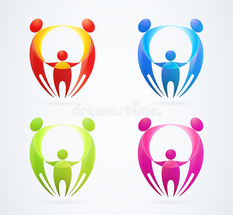 Download Family Concept Holding Hands. Vector Illustration Stock Vector - Image: 25621371