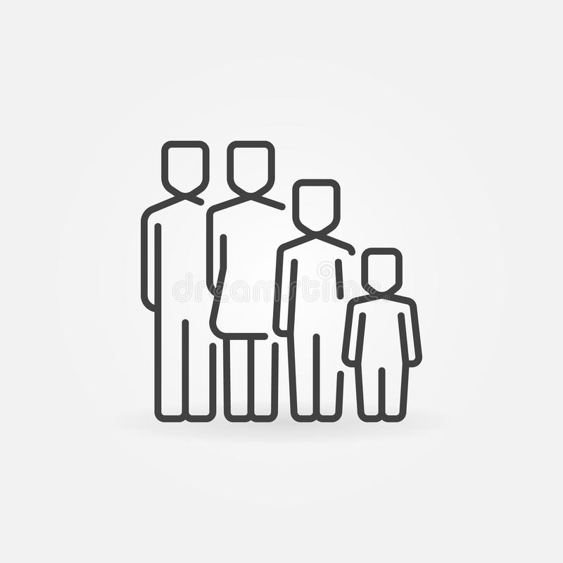Family concept icon stock illustration