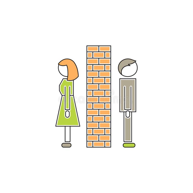 Family conflict icon stock illustration