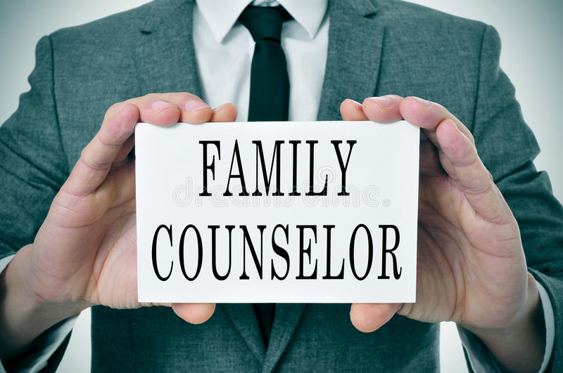 Family counselor stock photography