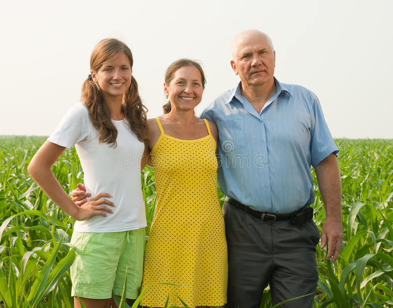 Download Family on countryside stock photo. Image of daughter - 15435016