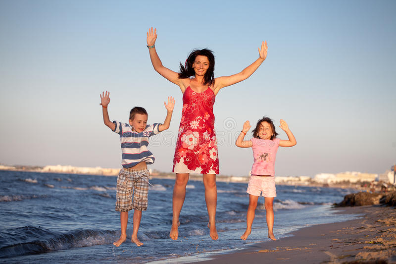 Family on creeps royalty free stock images