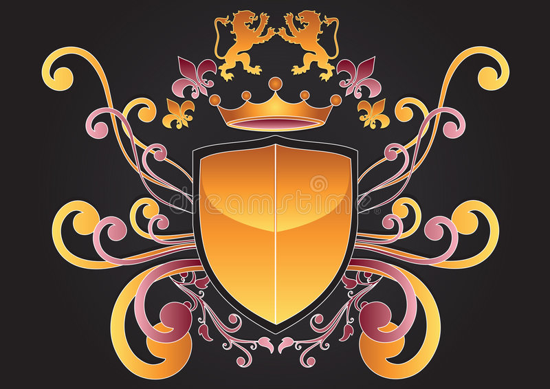 Download Family Crest Of Arms stock vector. Illustration of painting - 9005816